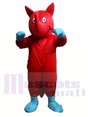 Rote Nashorn Maskottchen Kostüme