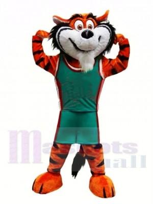 Sport Schule Tiger Maskottchen Kostüm