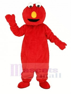 rot Elmo Monster Maskottchen Kostüm Karikatur