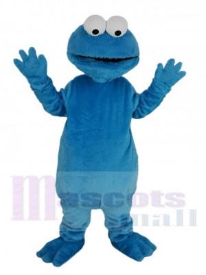 Blau Behaart Monster Elmo Maskottchen Kostüm Karikatur