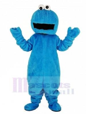 Elmo mit Groß Mund Blau Plätzchen Monster Maskottchen Kostüm