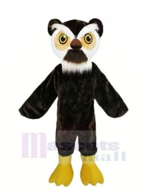 Schwarz Eule mit Weiß Augenbrauen Maskottchen Kostüme Tier