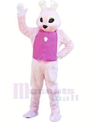Hase mit Rosa Weste Maskottchen Kostüme Tier