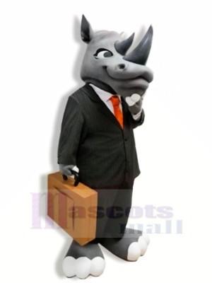 Gentleman Grau Nashorn Maskottchen Kostüme Erwachsene