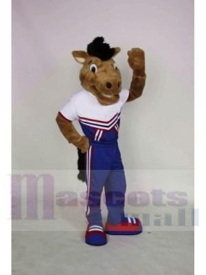 Lächelnd Mustang Maskottchen Kostüme Tier