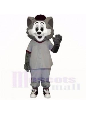 Grau und Weiß Katze mit Groß Augen Maskottchen Kostüme Karikatur