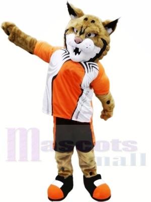Bobcat mit Orange Passen Maskottchen Kostüme Tier