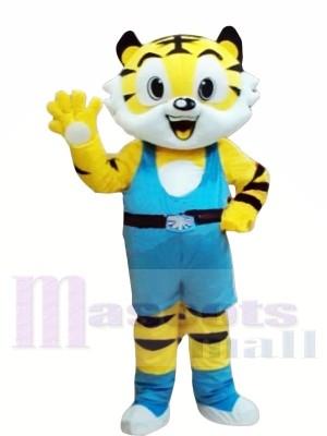 Neuer Stil Gelber Tiger Maskottchen Kostüme
