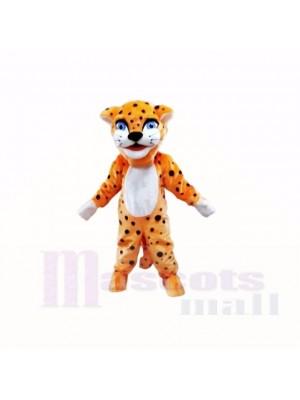 Lächelnd Freundlich Leicht Leopard Maskottchen Kostüme Karikatur