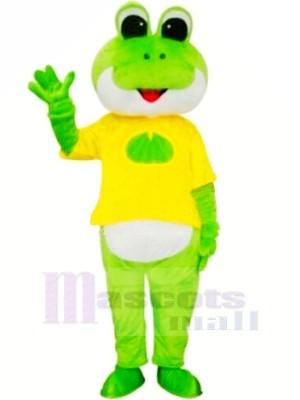 Frosch mit Gelb T-Shirt Maskottchen Kostüme