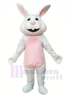 Lächelnd Grau Hase Maskottchen Kostüme Tier