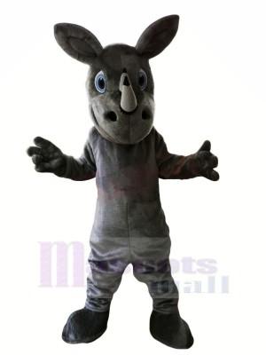Grau Nashorn mit Groß Augen Maskottchen Kostüme