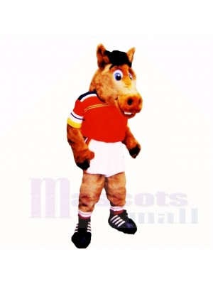 Sport Leicht Pferd mit rot Hemd Maskottchen Kostüme Schule