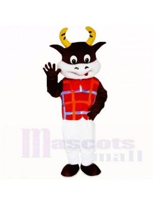 Freundlich Leicht Kuh mit rot Hemd Maskottchen Kostüme Schule