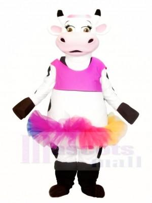 Kuh mit bunten Rock Maskottchen Kostüme Tier