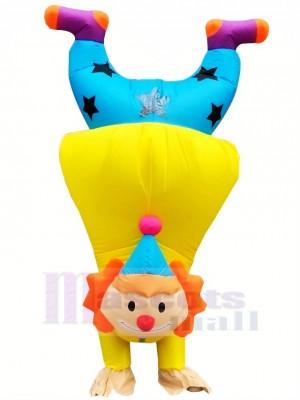 Komisch Kopfüber Handstand Clown Buffon Aufblasbar Maskottchen Kostüme Karikatur