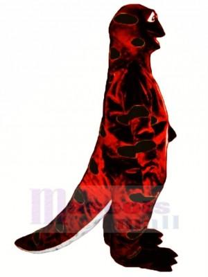 rot und Schwarz Ausfall Salamander Maskottchen Kostüm