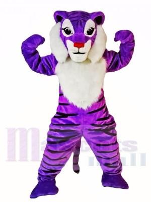 Lila Tiger Maskottchen Kostüme