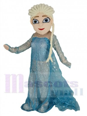 Neu Frozen Prinzessin Elsa Maskottchen Kostüm Karikatur