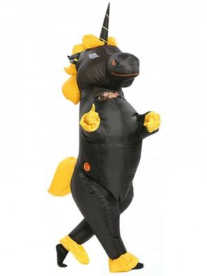 Schwarzes Einhornpferd Sprengen Aufblasbar Halloween Kostüm Für Erwachsene