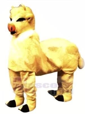 Süß Gelb Neu 2 Person Kuh Maskottchen Kostüm