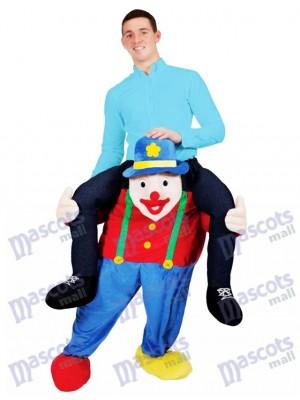 Carry Me Illusion Kostüm Piggy Back Zirkus Clown Maskottchen Kostüm Fahrt auf mich lustige Kostüm