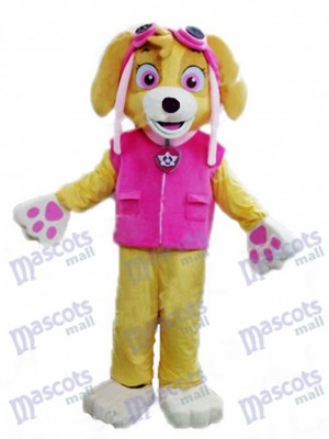 Paw Patrol Skye Adult Maskottchen Kostüm Hund Fancy Suit Cartoon Charakter