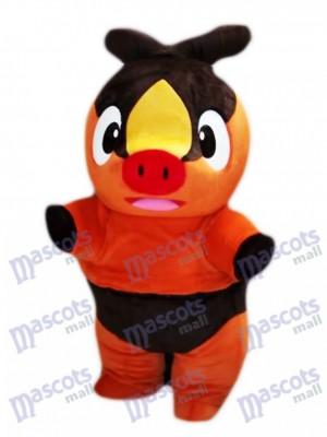 Tepig Pokabu Feuer Schwein Pokémon Gehen Maskottchen Kostüm