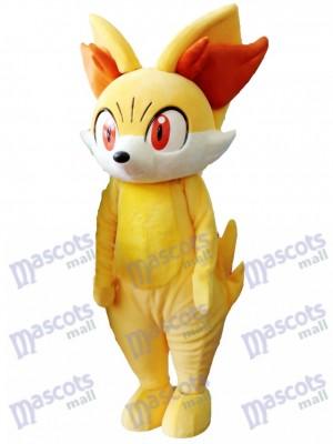 Gelb Fox gefeuert Fennekin Maskottchen Kostüm Pokemon Pokémon GO Pocket Monster