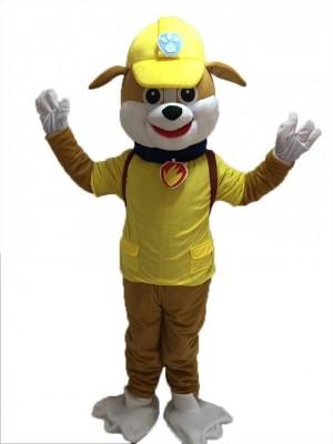 Paw Patrol Rubble Maskottchen Kostüm Gelber Hund Halloween Kostüm