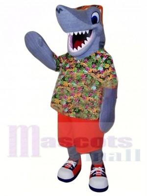 Sport glücklich Hai Maskottchen Kostüm