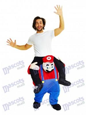 Huckepack Super Mario Bros tragen mich Fahrt Mario Maskottchen Kostüm
