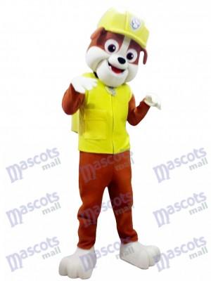 Paw Patrol Schutt Maskottchen Kostüm Gelb Hund Halloween Kostüm