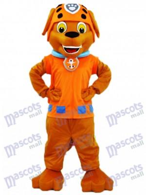 Schokoladen-Labrador-Welpen-Wasser-Retter-Tatzen-Patrouille Zuma-Hundemaskottchen-Kostüm