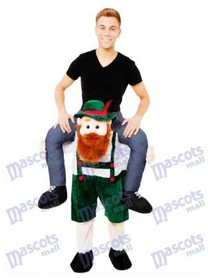 Piggy Back Carry Me Bayerischen Bier Guy Ride Maskottchen Kostüm Kostüme chipmunks kostüm huckepack kostüm selber machen