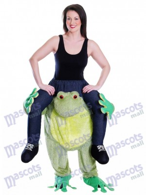 Piggy Zurück Frosch Carry Me Maskottchen Kostüm Fahrt auf Frosch Kostüme chipmunks kostüm huckepack kostüm selber machen