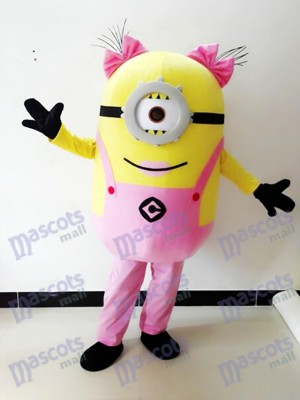 Verabscheuungswürdige Me Pink One Eye Minions Maskottchen Kostüm