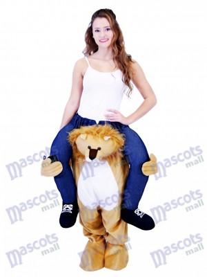 Piggyback löwe Carry Me Reiten auf Lion Maskottchen Kostüm chipmunks kostüm, huckepack kostüm selber machen