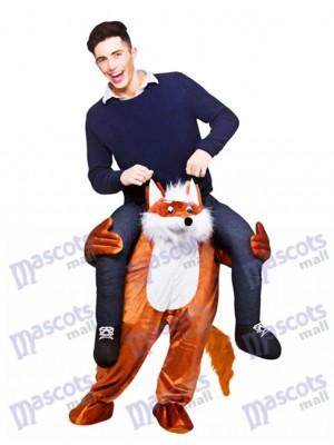 Carry Me Fantastische Fox Fuchs Piggy Back Maskottchen Kostüm Fahrt auf Funny Fancy Dress