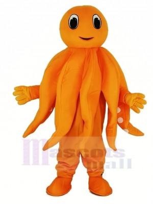 Orange Tintenfisch Plüsch Erwachsene Maskottchen Kostüm Karikatur