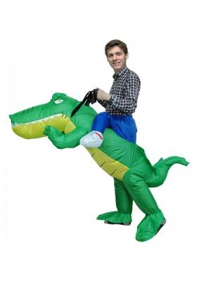 Krokodil Alligator Tragen mich Reiten auf Aufblasbar Kostüm Halloween Weihnachten zum Erwachsener/Kind
