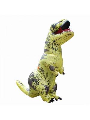 Gelb Tyrannosaurus T-Rex Dinosaurier Aufblasbar Kostüm Halloween Weihnachten zum Erwachsener/Kind