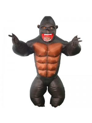 Gorilla Aufblasbar Kostüm Affe Orang-Utan Gibbon Schimpanse Kostüm zum Erwachsene