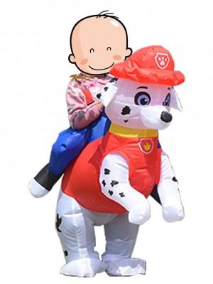 Paw Patrol Marshall Dalmatiner Hund Tragen Mir Reiten Auf Aufblasbar Kostüm