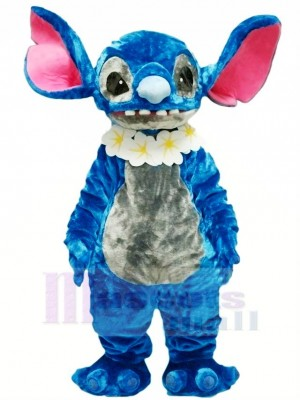 Blau Stich Lilo Maskottchen Kostüm Karikatur