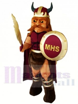 Schule Wikinger Maskottchen Kostüm