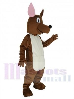 Joey Känguru mit rosa Ohren Maskottchen Kostüm Tier