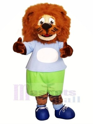 Blau Kleider Löwe Maskottchen Kostüme Tier