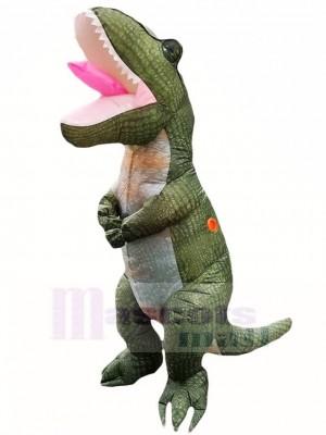 Dunkelgrün Tyrannosaurus T-Rex Aufblasbar Maskottchen Kostüme