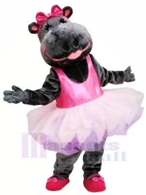 Rosa Rock Ballerina Nilpferd Maskottchen Kostüm Tier